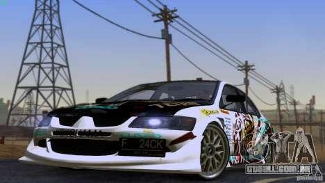 Mitsubishi Lancer Evolution 8 para GTA San Andreas traseira esquerda vista