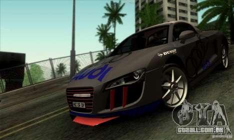 Audi R8 Spyder Tunable para GTA San Andreas vista interior