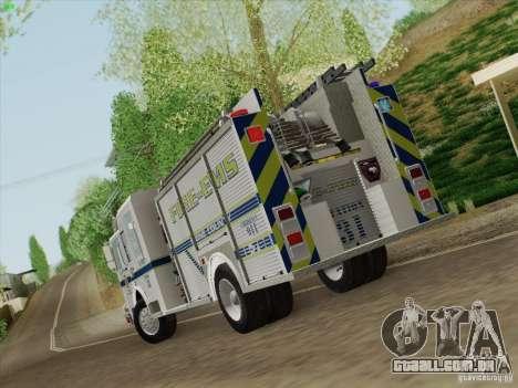 Pierce Pumpers. B.C.F.D. FIRE-EMS para GTA San Andreas vista direita