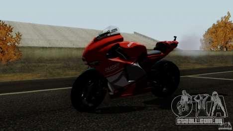 Ducati Desmosedici RR para GTA San Andreas traseira esquerda vista