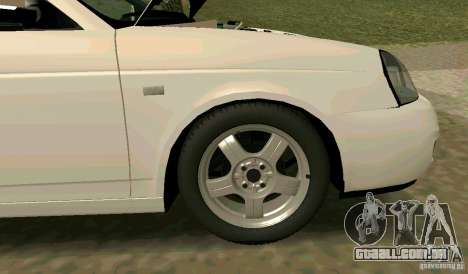 VAZ-2170 para GTA San Andreas vista inferior