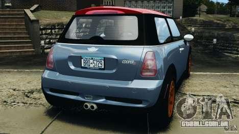 Mini Cooper S v1.3 para GTA 4 traseira esquerda vista