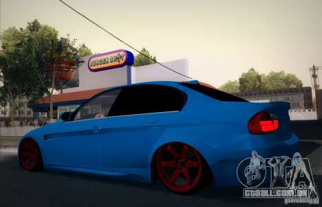 BMW M3 E90 para GTA San Andreas vista superior