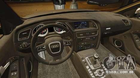 Audi RS5 2012 para GTA 4 vista lateral