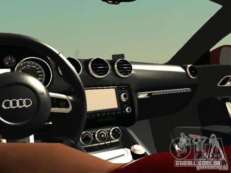Audi TT-RS Coupe 2011 v.2.0 para GTA San Andreas vista interior