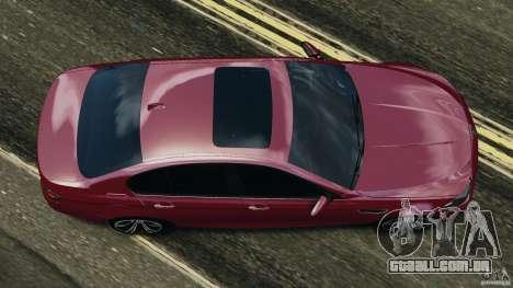 BMW M5 2012 para GTA 4 vista direita