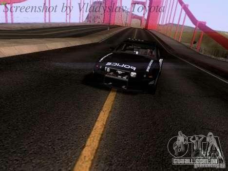 Ford Mustang GT 2011 Police Enforcement para GTA San Andreas vista direita