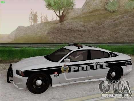 Dodge Charger 2012 Police para GTA San Andreas traseira esquerda vista