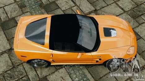 Chevrolet Corvette ZR1 para GTA 4 vista lateral