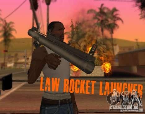 LAW Rocket Launcher Retextured para GTA San Andreas segunda tela
