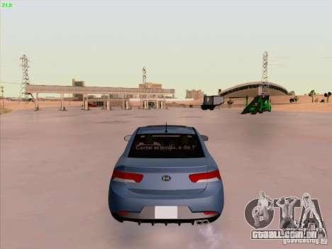 Kia Cerato Coupe 2011 para vista lateral GTA San Andreas
