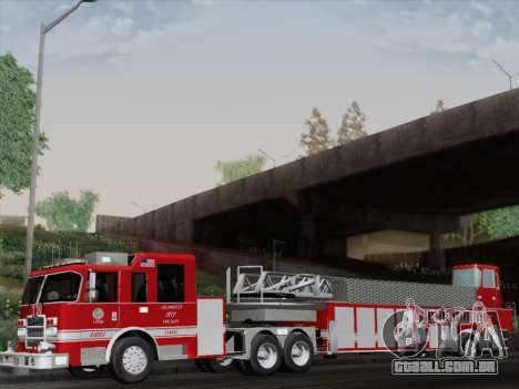 Pierce Arrow XT LAFD Tiller Ladder Truck 10 para GTA San Andreas vista traseira
