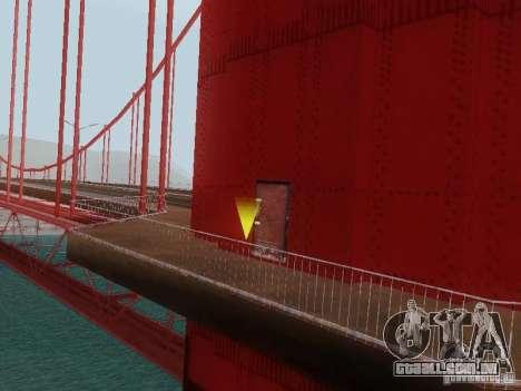 Subindo a ponte Golden Gate para GTA San Andreas quinto tela