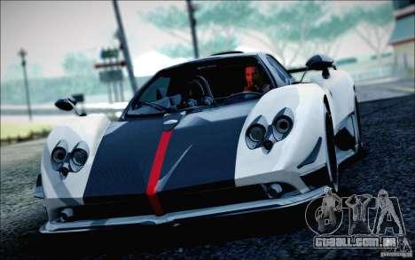 Pagani Zonda Cinque Roadster 2009 para GTA San Andreas traseira esquerda vista
