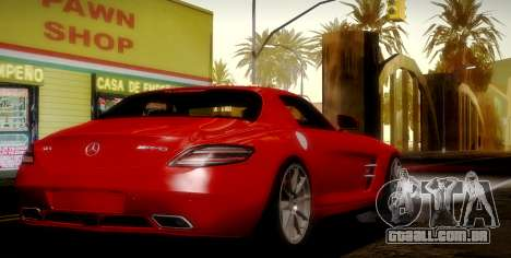 Mercedes-Benz SLS AMG 2010 para GTA San Andreas vista superior
