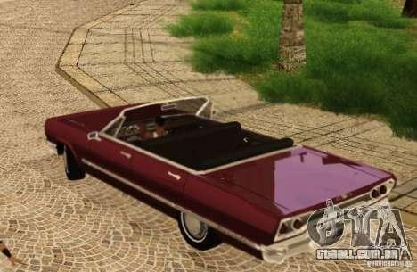 Savanna Detroit 1965 para GTA San Andreas vista traseira