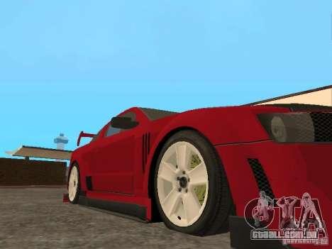Ford Mustang para GTA San Andreas vista traseira