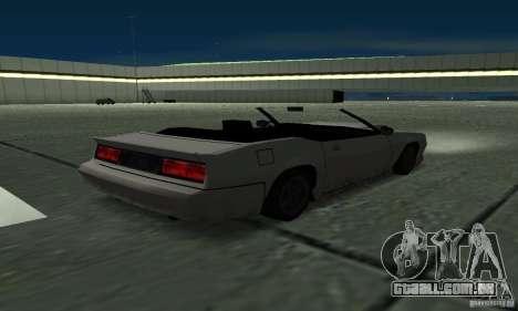 Buffalo Cabrio para GTA San Andreas traseira esquerda vista