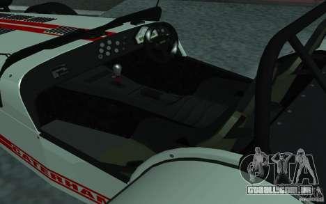 Caterham R500 para GTA San Andreas vista direita