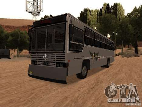 Mercedes Benz SWAT Bus para GTA San Andreas