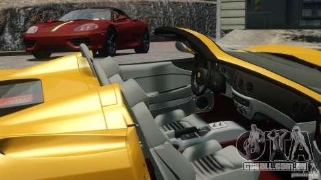 Ferrari 360 Spider 2000 para GTA 4 traseira esquerda vista