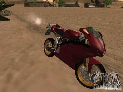 Ducati 999R para GTA San Andreas vista interior
