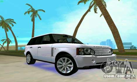 Land Rover Range Rover Supercharged 2008 para GTA Vice City vista lateral