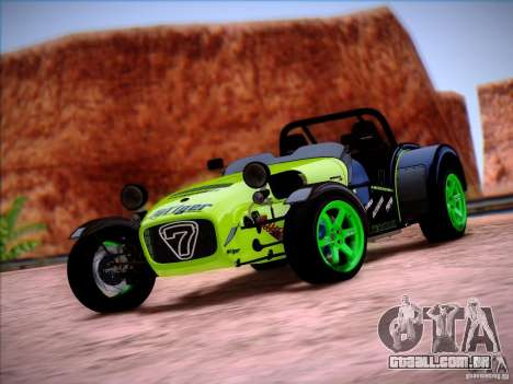 Caterham Superlight R500 para GTA San Andreas esquerda vista
