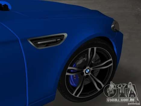 BMW M5 F10 2012 para GTA Vice City vista superior