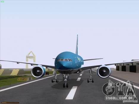 Boeing 777-2Q8ER Vietnam Airlines para GTA San Andreas vista traseira