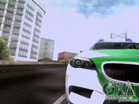 BMW M5 Touring Polizei para GTA San Andreas vista interior
