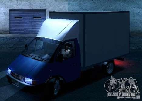 Gazela 33021 para as rodas de GTA San Andreas