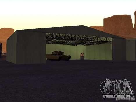 A Minigun no tanque para GTA San Andreas