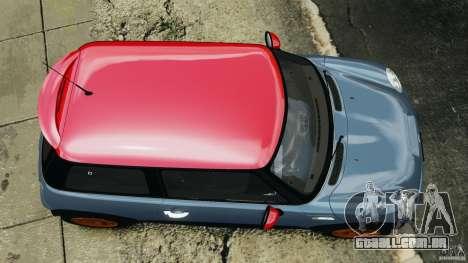 Mini Cooper S v1.3 para GTA 4 vista direita