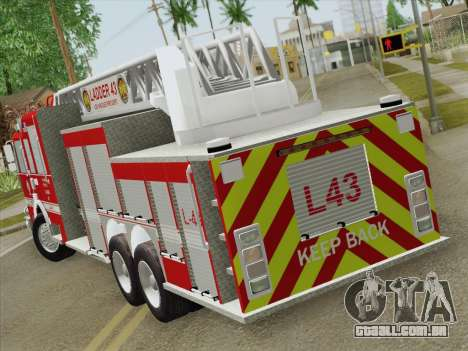 Pierce Arrow LAFD Ladder 43 para GTA San Andreas vista direita