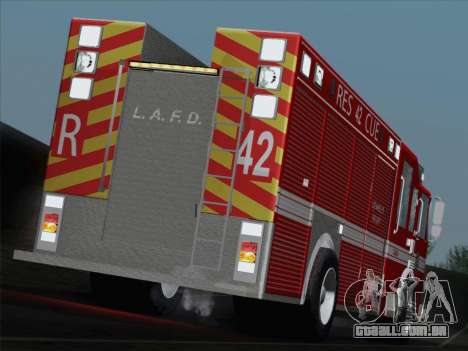 Pierce Contender LAFD Rescue 42 para GTA San Andreas interior
