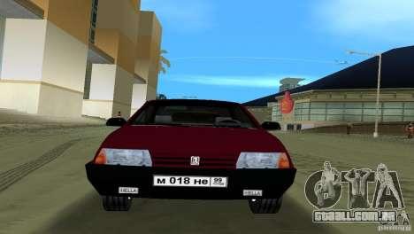 VAZ 21099 para GTA Vice City vista traseira esquerda