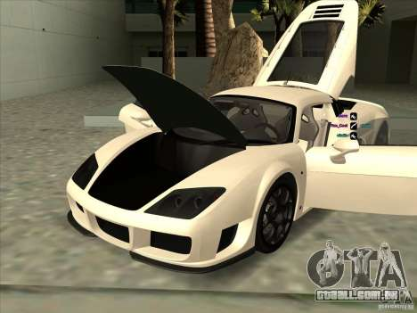 Noble M600 para vista lateral GTA San Andreas