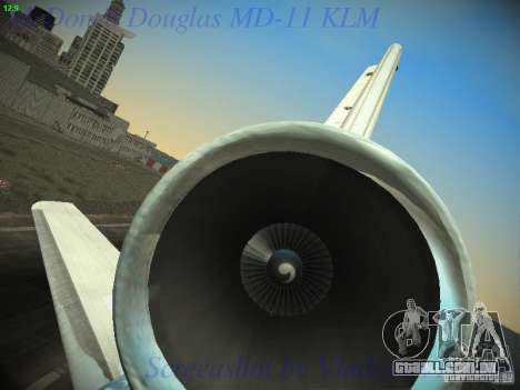 McDonnell Douglas MD-11 KLM Royal Dutch Airlines para GTA San Andreas vista inferior