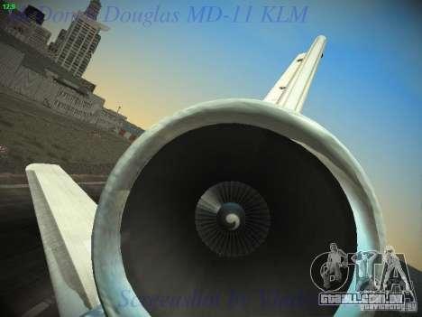 McDonnell Douglas MD-11 KLM Royal Dutch Airlines para GTA San Andreas vista inferior