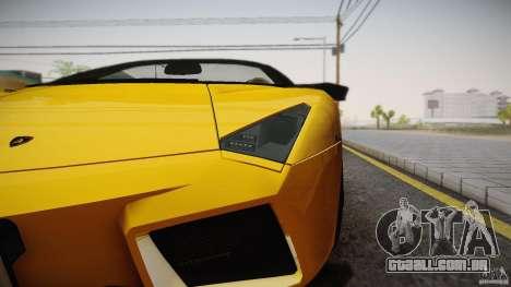 Lamborghini Reventón Roadster 2009 para GTA San Andreas esquerda vista