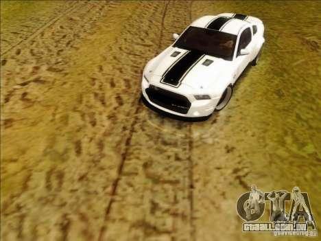 Ford Shelby GT500 SuperSnake NFS The Run Edition para GTA San Andreas esquerda vista