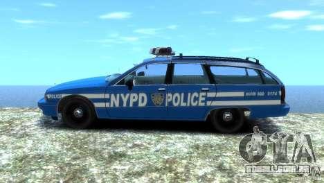 Chevrolet Caprice Police Station Wagon 1992 para GTA 4 traseira esquerda vista