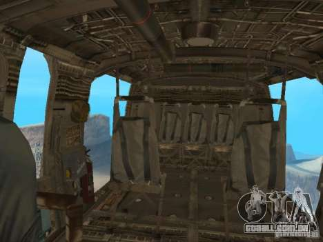 O UH-60 do COD MW3 para GTA San Andreas vista traseira
