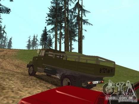 ZIL 4331 para GTA San Andreas traseira esquerda vista