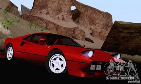 Ferrari 288 GTO 1984 para vista lateral GTA San Andreas
