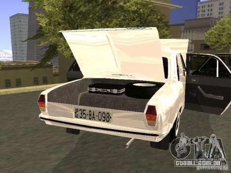 GAZ 24-10 para GTA San Andreas vista interior