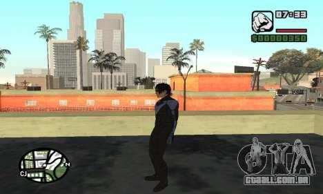 Nightwing skin para GTA San Andreas quinto tela