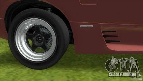 Lamborghini Diablo VTTT Black Revel para GTA Vice City vista lateral