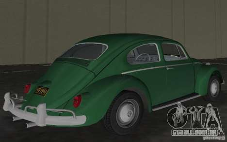 Volkswagen Beetle 1963 para GTA Vice City vista lateral